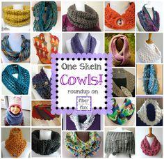 One Skein Cowls! 20+ Free Crochet Patterns...
