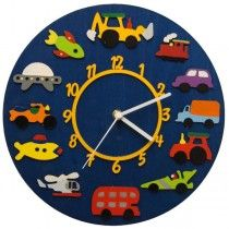 Children's Wall Clocks - Transport - Available now on Becky & Lolo