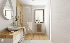 Mała łazienka - Duża łazienka w bloku w domu jednorodzinnym z oknem, styl skandynawski - zdjęcie od DOMOVO STUDIO - Homebook Bathtub, Bathroom, Studio, Standing Bath, Washroom, Bath Tub, Bath Room, Tubs, Bathrooms