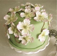 pretty little dogwood blossom cake