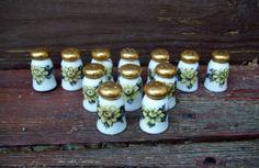 Vintage Mini Porcelain Floral Spice / Salt & by Raidersoflostloot, $10.00