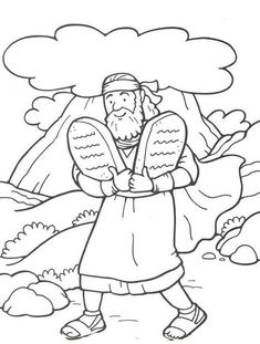 48 Moses and the 10 Commandments | Bible - Coloring Pages