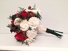 Lg. Wedding Bouquet made with sola flowers  choose your by syl2830