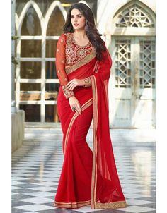 Wonderful Red #Saree