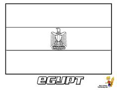 Egypt Flag Coloring Page You Have All 195 International Flags To Color In