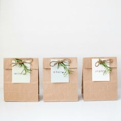 Put those paint chips to use and make these personalized little gift bags.