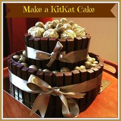 Easy Peasy! How To Make A Two Tier KitKat Cake