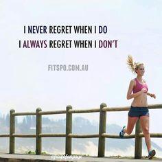 """""""Eu nunca me arrependo quando eu corro. Eu sempre me arrependo quando eu não corro"""" :)"""