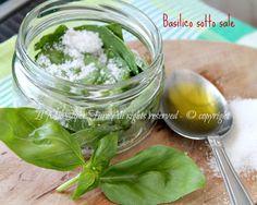 Basilico sotto sale come fare