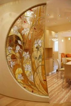 A great way to keep the flow going between the rooms, allow the light to pass through and still give each space some privacy