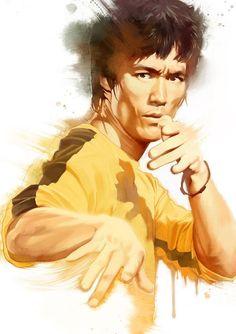 Bruce Lee game of death Bruce Lee Art, Bruce Lee Martial Arts, Bruce Lee Photos, Bruce Lee Poster, Kung Fu, Brandon Lee, Material Arts, Game Of Death, Enter The Dragon