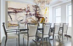 Project Spotlight: A Soigné Manhattan Apartment by Lori Margolis Interior Design Usa, Best Interior, Luxury Interior, Dining Room Inspiration, Home Decor Inspiration, Informal Dining Rooms, Manhattan Apartment, Design Firms, Abstract Expressionism