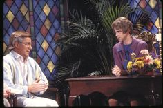 Saturday Night Live: Dana Carvey as The Church Lady with Phil Hartman as Ted Bakker #SNL