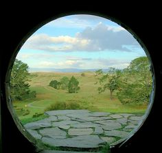 A view of the actual Shire! Picture taken from a hobit home in New Zealand!