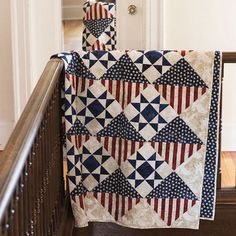 In Honor Of ... Handmade Quilts of Valor Patriotic Quilt for Military Veterans Service Appreciation