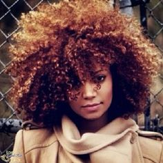 cute color for her curls