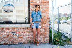 of What Courtney Wore featuring Gap, and Ray-Ban What Courtney Wore, Courtney Kerr, Sensible Shoes, Denim Fashion, Womens Fashion, Fashion Addict, Fashion Bloggers, Fashion Lookbook, Summer Looks