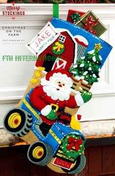 Bucilla Christmas On The Farm  18 Felt Stocking Kit by