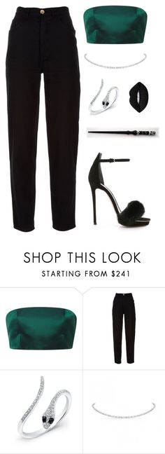 """Davina Whitmore (OC) -HP"" by not-myself ❤ liked on Polyvore featuring Katie Ermilio, Chanel, Monique Lhuillier, Anne Sisteron and Lime Crime"