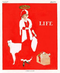 "Coles Phillips : ""A Present Day Saint"", cover art for Life Magazine, 22 December 1910"