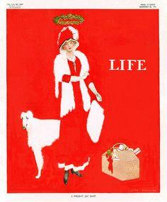 Coles Phillips' cover for Life magazine, Dec 22 1910.