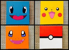Pokemon Inspired Paintings Set of 4 par ABitofImagination sur Etsy