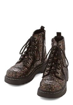 Get Your Glam On Boot. March to the beat of your own dazzling drummer in these glittering boots! #multi #modcloth