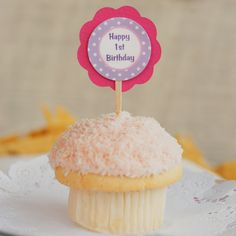 Cupcake Birthday Party Favor Tags  Happy by getthepartystarted, $7.00
