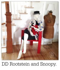 Adel Rootstein mannequin and Snoopy.  2015 ©Liza Cowan