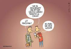Humor Grafico: App Movil contra la Crisis