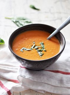 Creamy Tomato Soup. Look out Campbells, there's no High-Fructose Corn syrup in this homemade soup.