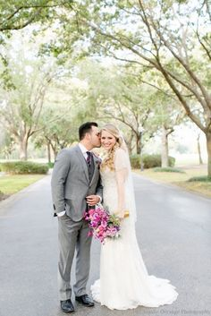 Cypress Grove Estate House: Heather and Alex's Plum & Champagne Wedding |