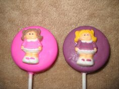 1 chocolate baby shower doll dolly girl molded oreo lollipop lollipops | sapphirechocolates - Edibles on ArtFire