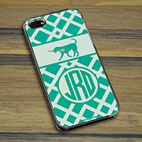 Lacrosse iPhone/Galaxy Case Monogrammed Lax Dog Weave - Protect what you love in style with our Monogrammed Lax Dog Weave smartphone case.  Our cases can be made to fit the iPhone 4, 4S, 5, and the Galaxy.