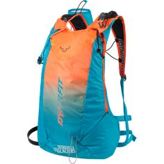Super lightweight ISMF certified Ski Touring RACE backpack with numerous features Backpack Purse, Drawstring Backpack, Unique Backpacks, Ski Touring, Hiking Gear, Crossbody Shoulder Bag, Fashion Handbags, Blue Orange, Dna
