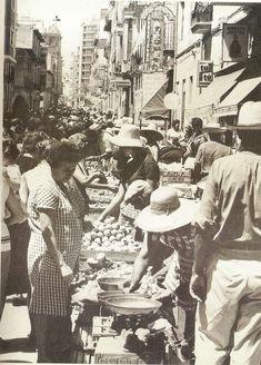 Alacant. Anys 60. El mercat del carrer Quintana.  Font: Alicante Vivo.