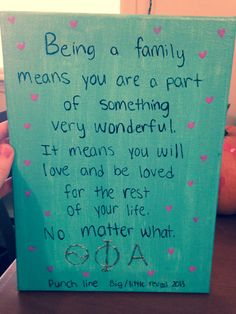 Big/little reveal family line craft!