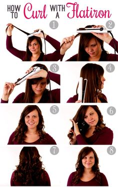 Don't Have A Curling Iron? Curl Your Hair With A Straightener. Fast, Easy, And Simple. Tutorial