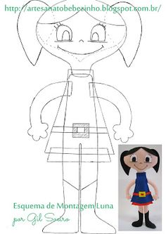 Artesanato Bebezinho: Molde dos Personagens do Show da Luna