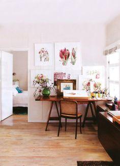 Home office design idea - Home and Garden Design Ideas Open Office Design idea. small office Home Office Design Home Office Design, Office Decor, House Design, Office Designs, Office Ideas, Garden Design, Office Chic, Office Workspace, Home Interior