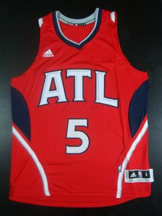 161cc2812 Atlanta Hawks  5 Carroll red jersey