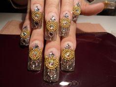 more bling bling by chancleto30 - Nail Art Gallery nailartgallery.nailsmag.com by Nails Magazine www.nailsmag.com #nailart