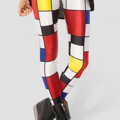 bdeef0290be3 Mondrian leggings Cheap Leggings, Sweaters And Leggings, Women's Leggings, Printed  Leggings, Tights