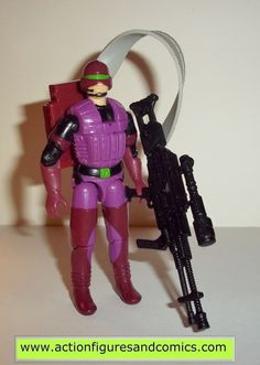 Hasbro toys G I JOE vintage gijoe action figures for sale to buy 1990 COBRA S.A.W. VIPER includes: backpack, machine gun, ammo belt condition: excellent collector quality- nice paint, nice joints, no