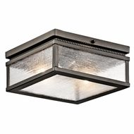 Kichler 49389OZ Manningham Traditional Olde Bronze Finish 5 Tall Exterior Ceiling Lighting Fixture $198.00