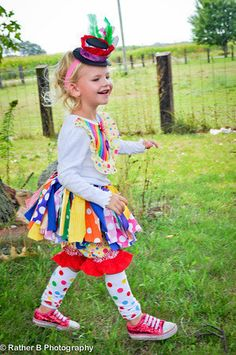 CLOWN costume clown Scrappy Tutu Costume by trendylittlecreation