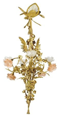 Eugène Soleau CHANDELIER, CIRCA 1900 gilt bronze, glass stamped Soleau. Paris approximately . (47 x 19 ¾ x 19 ¾ in.) Bronze Chandelier, Antique Chandelier, Antique Lamps, Antique Lighting, Chandelier Lighting, Homemade Home Decor, Home And Deco, Oil Lamps, French Antiques
