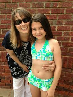 Kelly and Maddie at the pool!