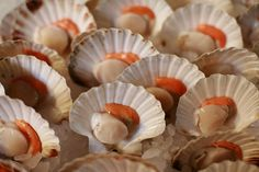 Scallops at Borough Market in London.