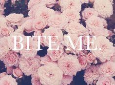 Bite me #wildfoxwords